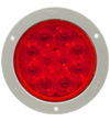 4457 10-Diode Red S/T/T Lamp with Grey Flange Mount