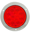 4459 10-Diode Red S/T/T Lamp with Chrome Flange Mount