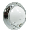 4459RC 10-Diode Red S/T/T Lamp with Clear Lens and Chrome Flange Mount