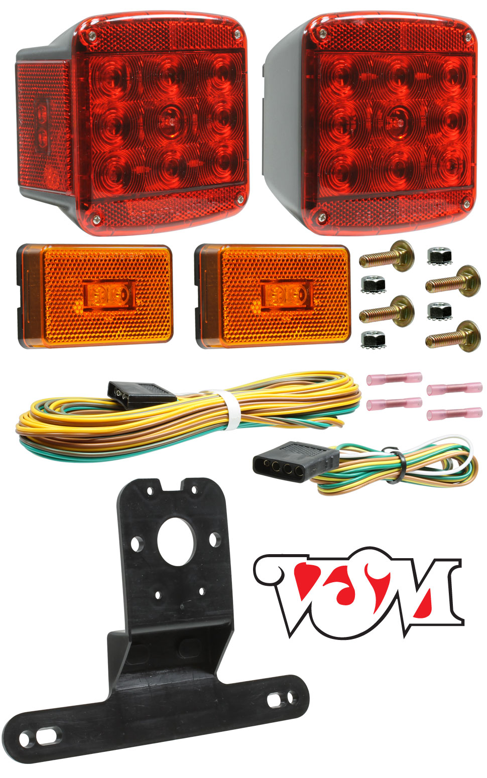 VSM5551DK LED Universal Trailer Light Kit with Sumbersible Lamps